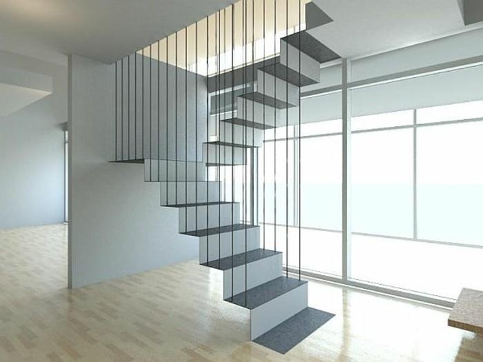 escalier-moderne-escalier-suspendu-en-blanc-joli-escalier-flottant-dans-l'air