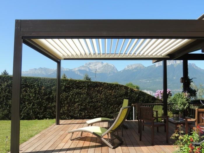 prix d une pergola fermeture d une terrasse bois avec des chassis aluminium with prix d une. Black Bedroom Furniture Sets. Home Design Ideas