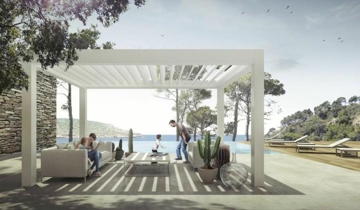 pergola-moderne-bioclimatique-modele-pergola-bioclimatique-blanche-un-lieu-parfait-pour-passer-du-temps-avec-la-famille