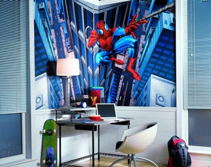 deco-chambre-enfant-convenable-pour-les-petits-amateurs-de-spiderman-idee-deco-chambre-garcon