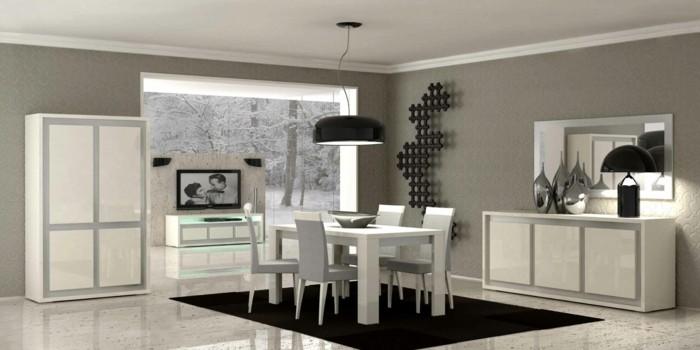 decoration-salle-a-manger-grise-déco-en-blanc-noir-et-gris-style-sobre