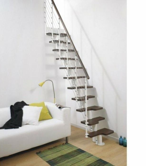 escalier-leroy-merlin-modele-escalier-gain-de-place-marches-en-bois-balustrade-en-métal