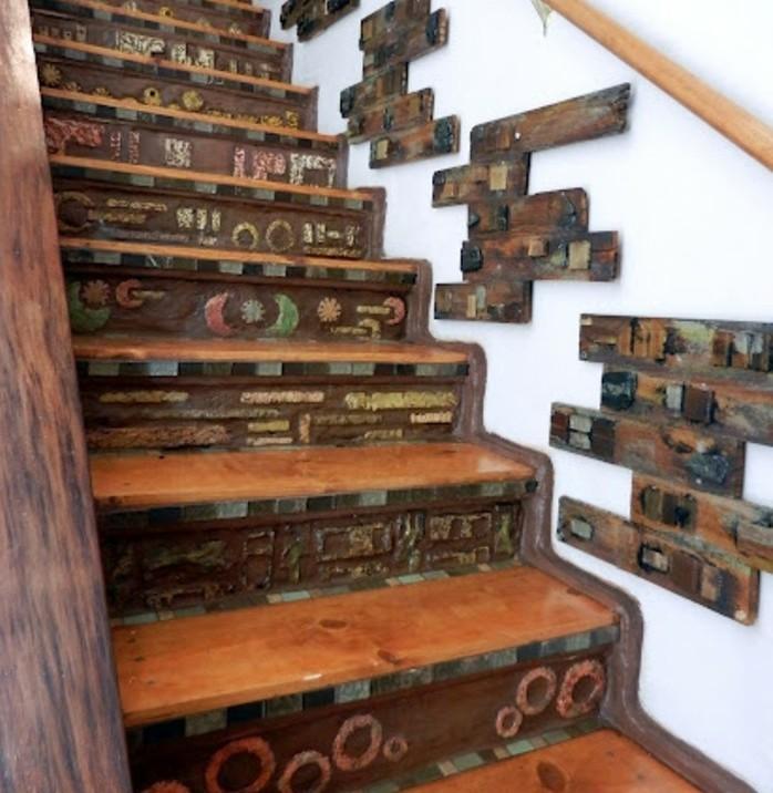 escalier-moderne-en-bois-design-déco-escalier-unique