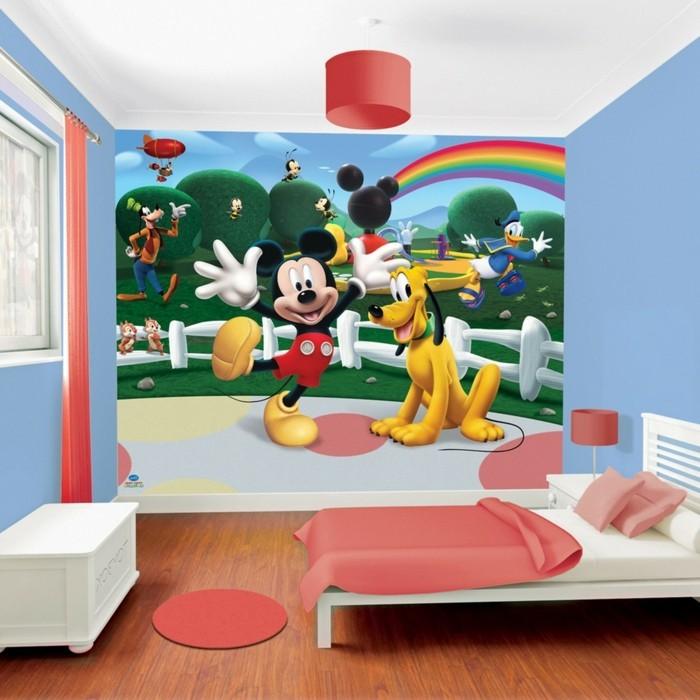 peinture-chambre-enfant-originale-panneau-murale-inspiré-de-l-univers-disney