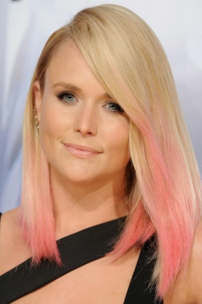 admirable-tendance-couleur-cheveux-2016-blonde-dip-dye-rose