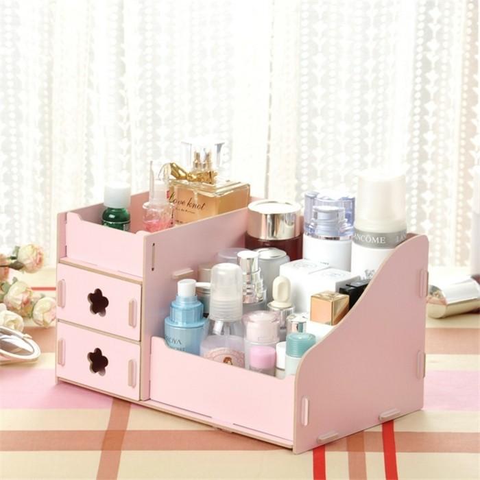 diy rangement maquillage ide rangement maquillage maison. Black Bedroom Furniture Sets. Home Design Ideas