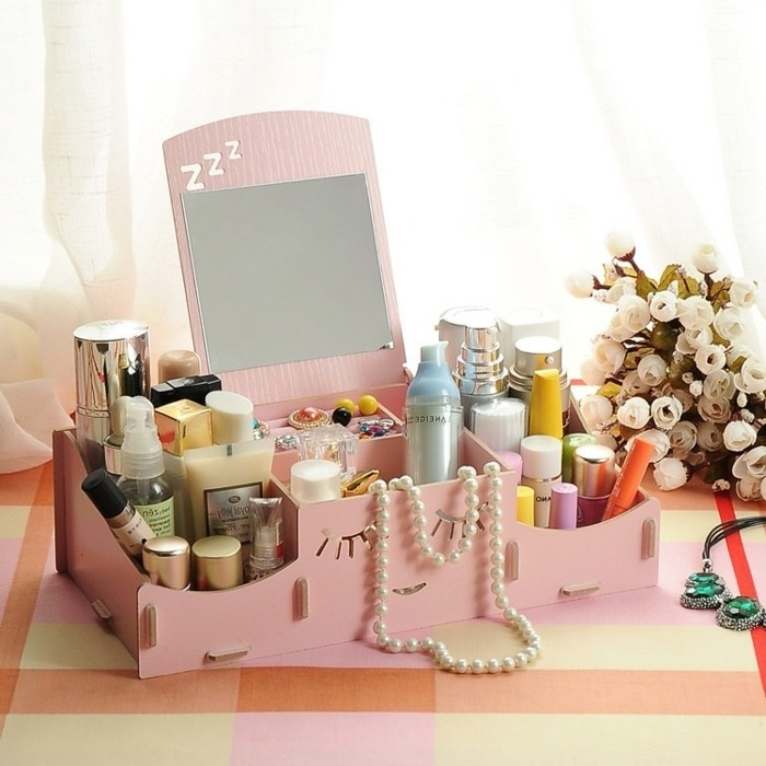 aliexpress-boite-a-maquillage-en-bois-rose-idee-rangement-make-up-idee-creative