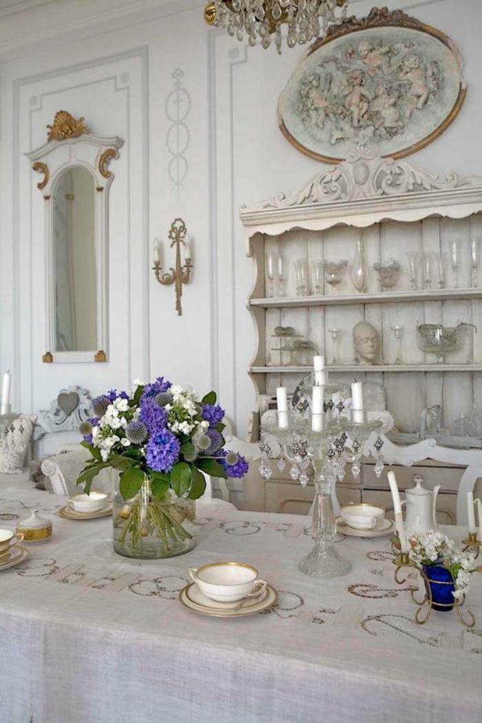 buffet-de-salle-à-manger-jolie-salle-à-manger-blanche