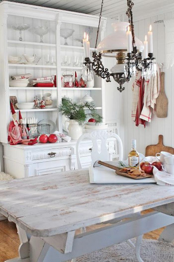 buffet-de-salle-à-manger-salle-à-manger-style-cottage-meubles-blancs