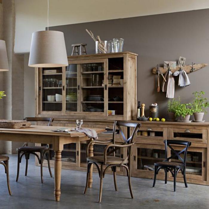 buffet-de-salle-à-manger-style-rustique-vintage