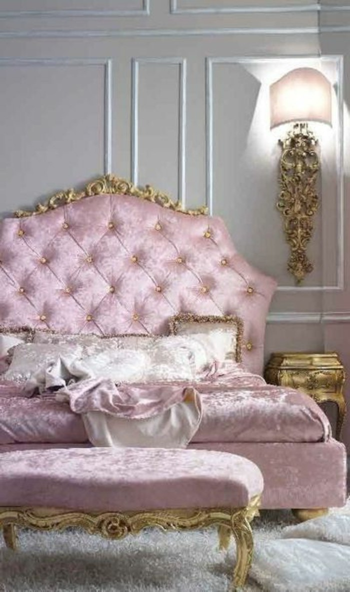 60 id es en photos avec clairage romantique for Chambre rose pale