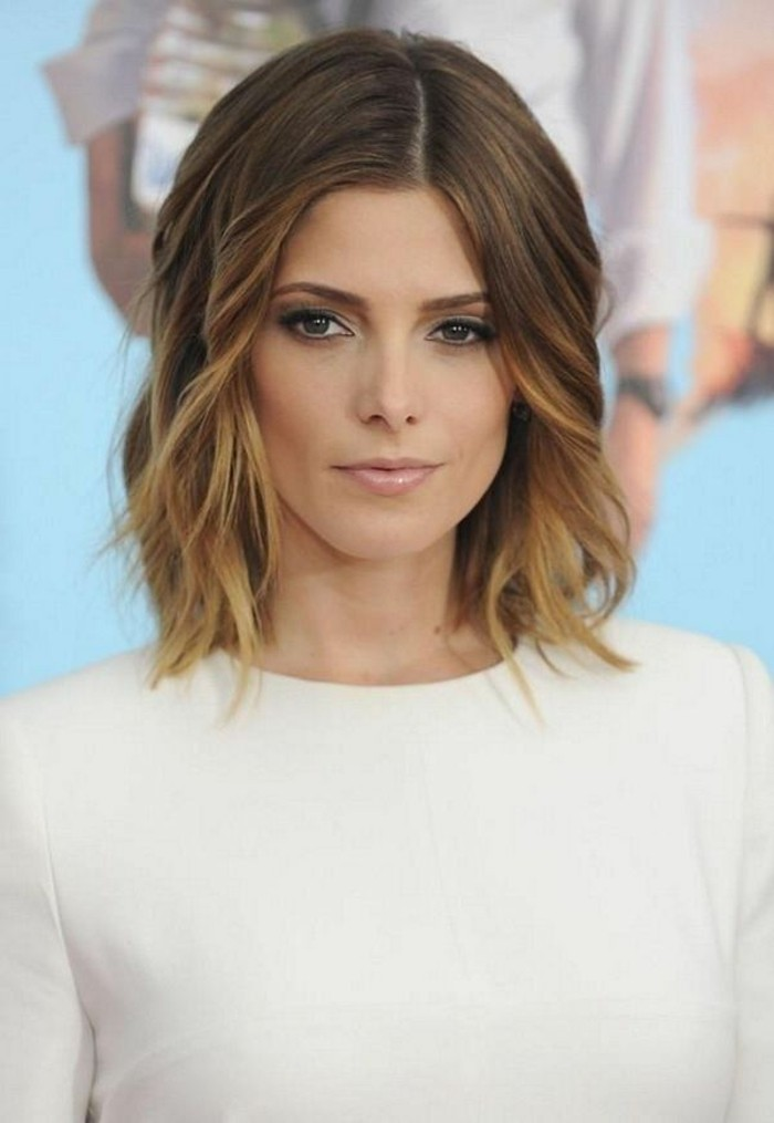 coiffure-mi-long-admirable-idée-coupe-de-cheveux-de-star