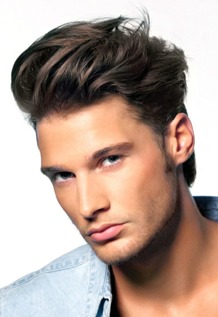 coupe de cheveux homme raide et epais