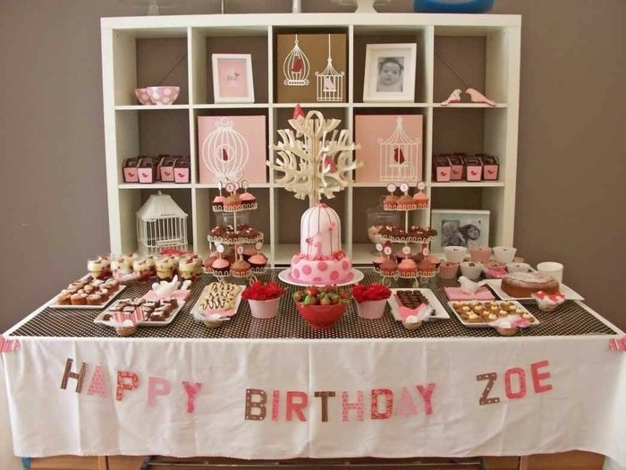 D co table anniversaire astuces et conseils en 71 photos - Comment decorer une table d anniversaire ...