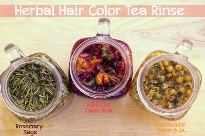 de-coloration-naturelle-pour-cheveux-idée-herbes