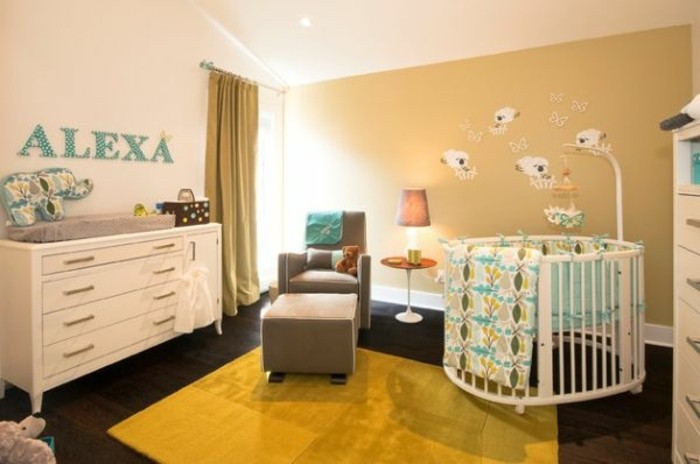 La peinture chambre b b 70 id es sympas for Baby boy bedroom ideas uk