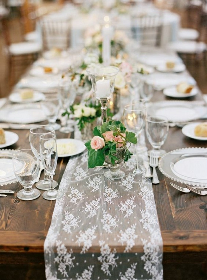 Diy d co de table mariage total 30 eur - Tavole apparecchiate moderne ...