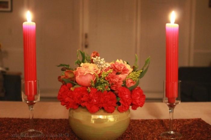 deco table st valentin - decor st valentin