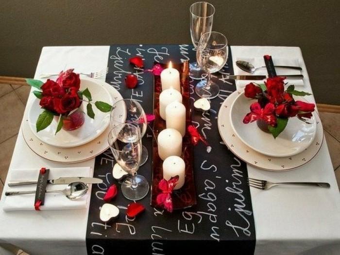 deco table st valentin - decoration saint valentin