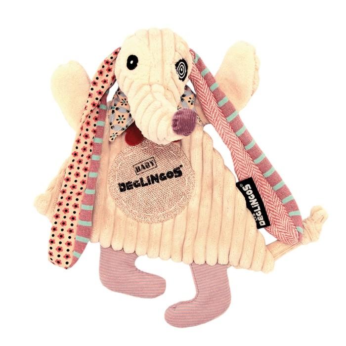 doudou-pour-bébé-Allobebe-Deglingos-chien-aux-oreilles-longues-colorees-resized