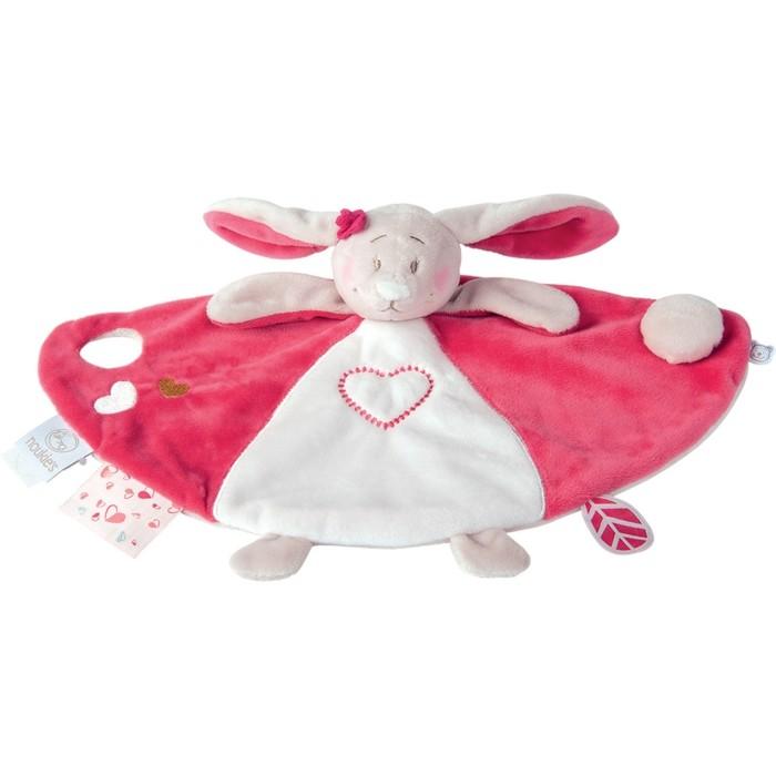 doudou-pour-bébé-Allobebe-lapinou-en-rose-et-blanc-resized