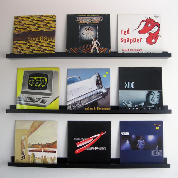 étagere ribba vinyles