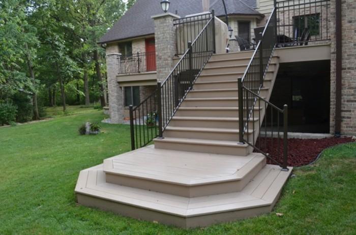 escalier-extérieur-bois-formidable-design-élégance-et-simplicité