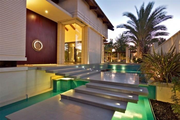 escalier exterieur villa