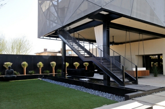 l 39 escalier ext rieur en 57 photos qui vous feront r ver. Black Bedroom Furniture Sets. Home Design Ideas