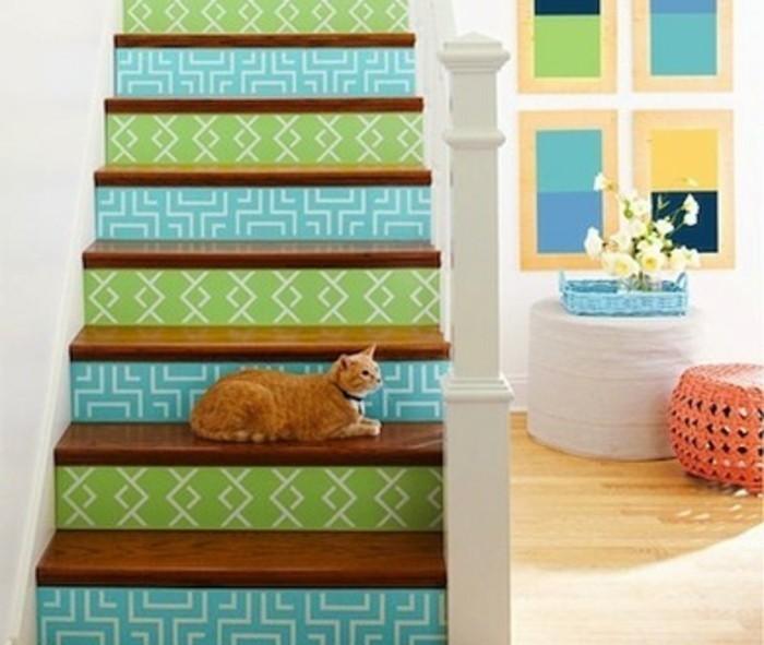 escalier-moderne-idée escalier-coloré
