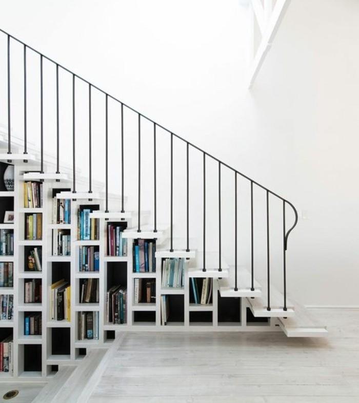 escalier-moderne-idée-géniale-escalier-avec-bibliothèque-sous-les-escaliers