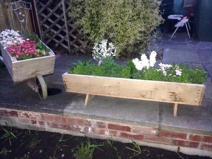 fabriquer-une-jardinière-bois-pas-cher-vintage