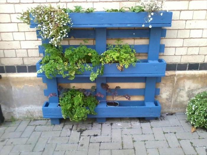 fabriquer une jardinire en bois en palette - Fabriquer Jardiniere Avec Palettes