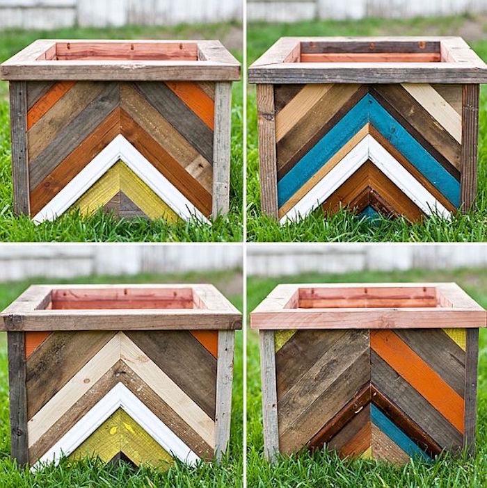 fabriquer-une-jardinière-en-bois-idées-peinture