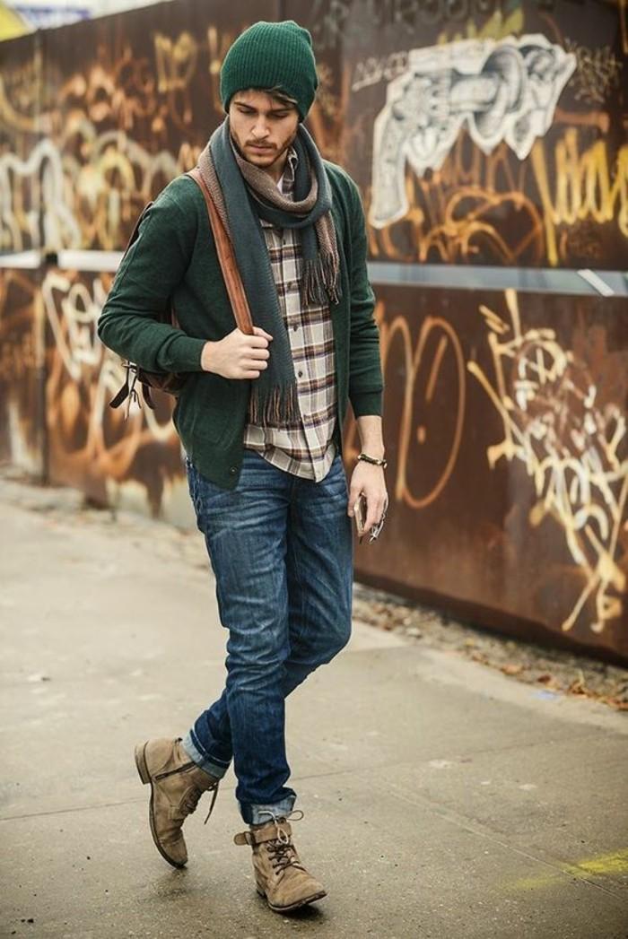 foulard-homme-bonnet-echarpe-moderne