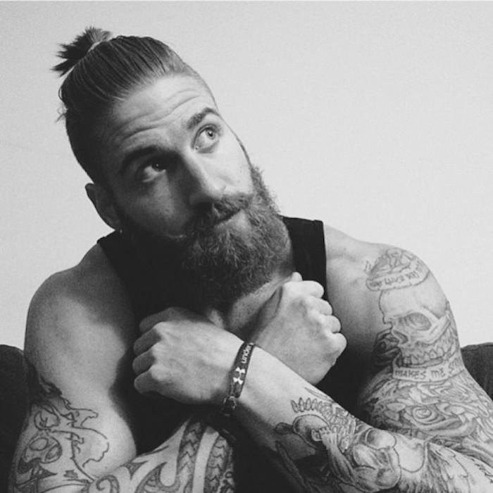 homme,barbe,longue,man,bun,hipster,tendance