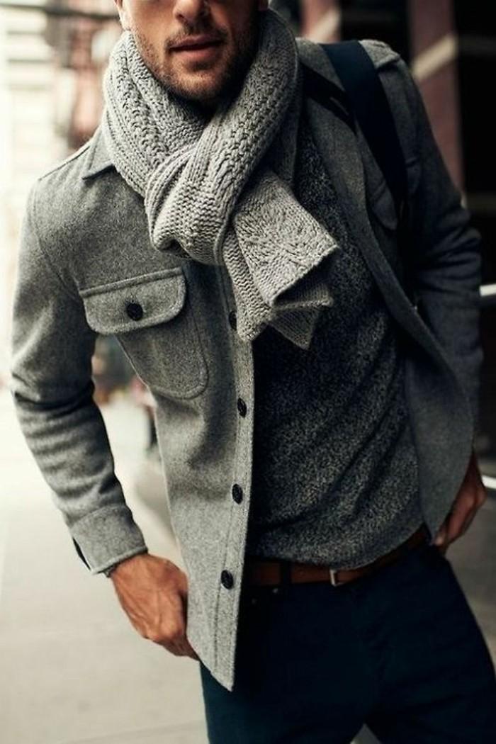 joli-homme-echarpe-pour-homme-modern-et-élégant-gris