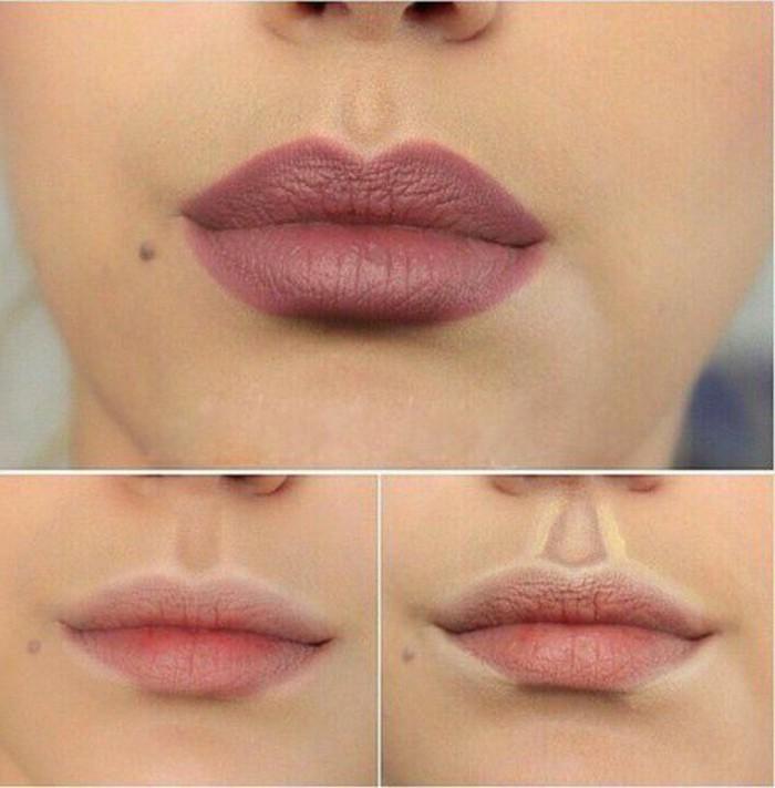 leçon-de-maquillage-levres-roses-apprendre-a-se-maquiller-les-levres