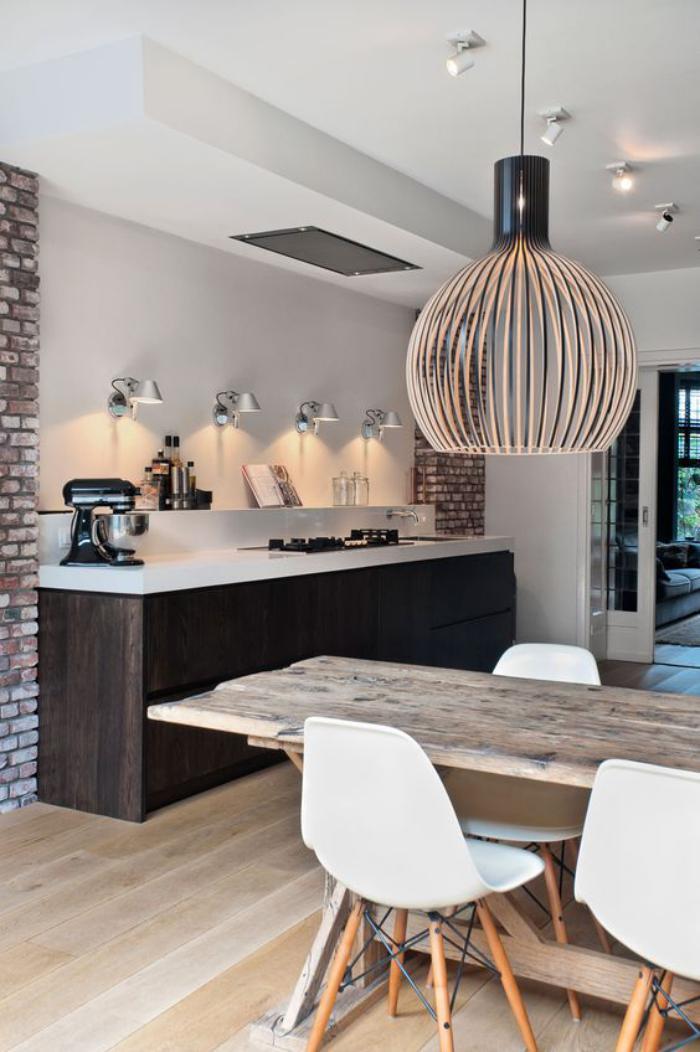 Quel luminaire de salle manger selon vos pr f rences et le style de votre i - Cuisine salle a manger ...