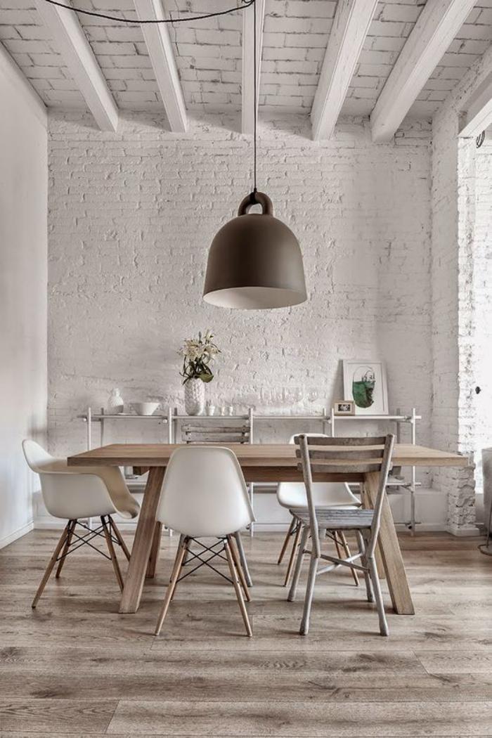 Quel luminaire de salle manger selon vos pr f rences et for Luminaire suspendu moderne