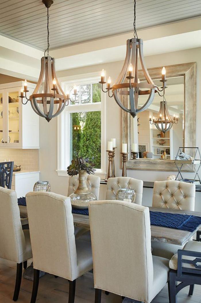 luminaire-de-salle-à-manger-deux-chandeliers-rustiques
