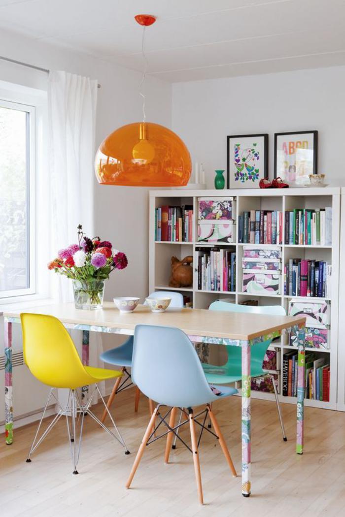 luminiare-de-salle-à-manger-lampe-suspendue-orange