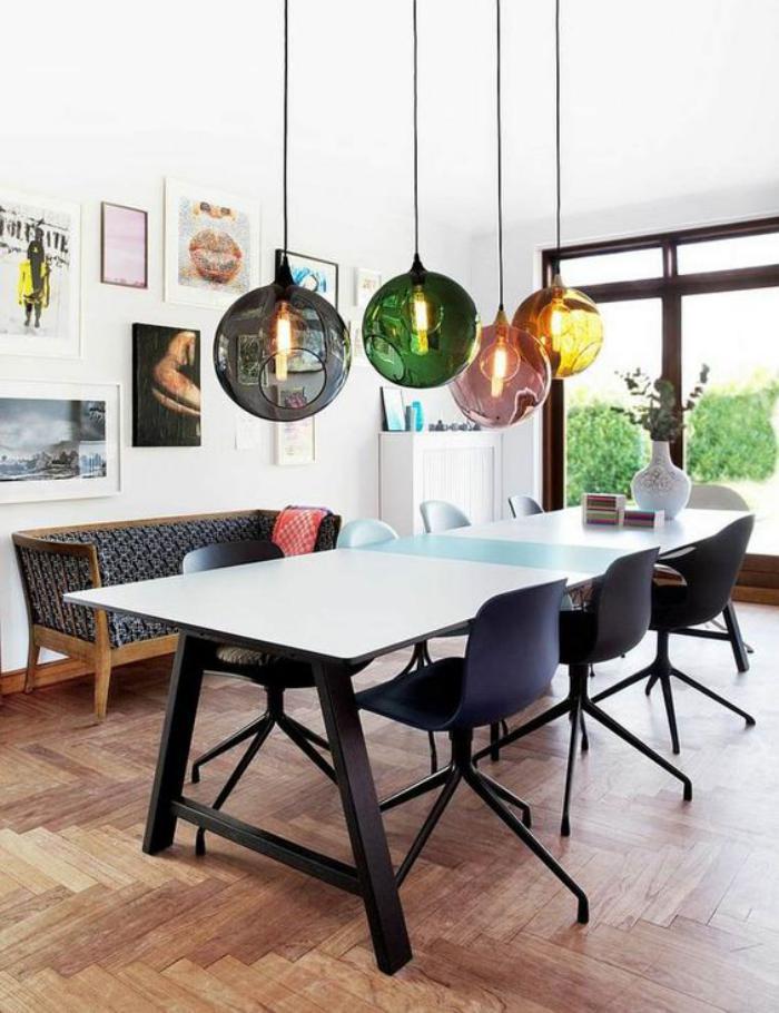 ... salle à manger, idée déco artistique pour la salle à manger