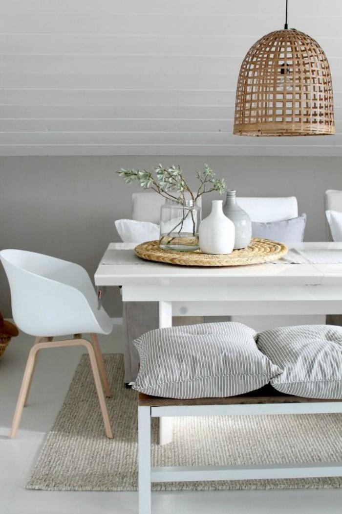 luminaire-de-salle-à-manger-suspension-en-rotin-intérieur-blanc