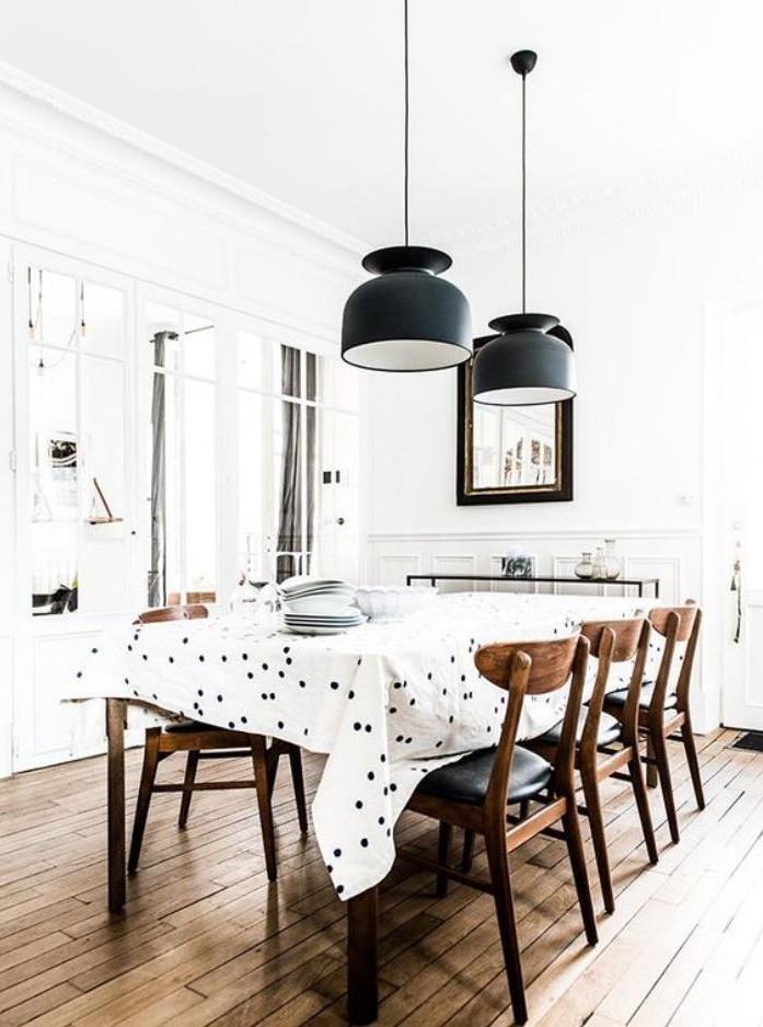 luminaires de salle a manger, salle à manger fantastique, déco bois ...