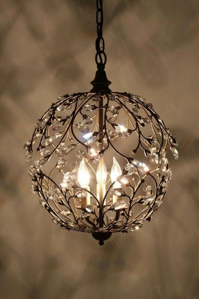 60 id es en photos avec clairage romantique for Lampe de chevet fer forge