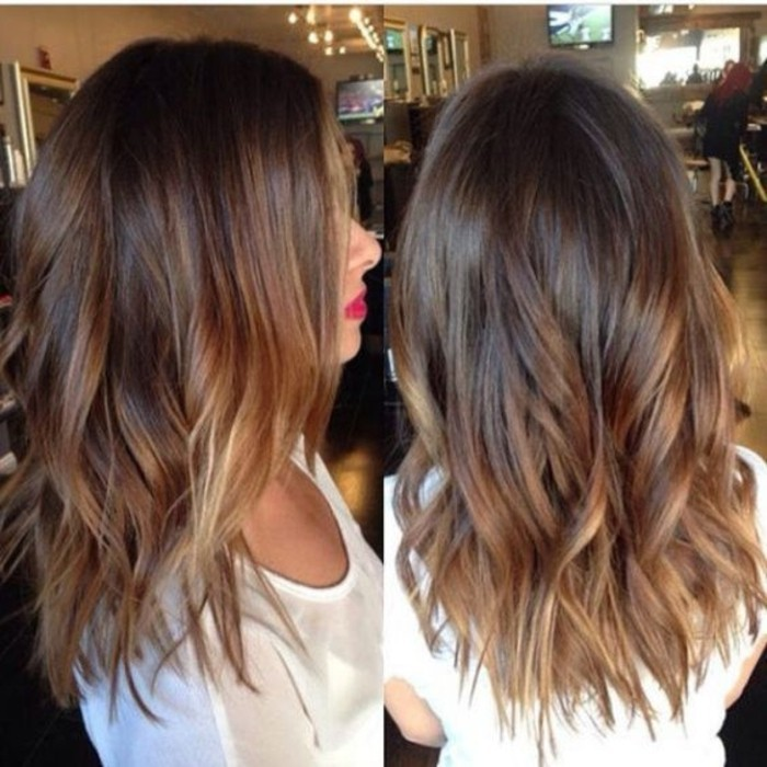 Meches Ou Balayage Sur Cheveux Chatains
