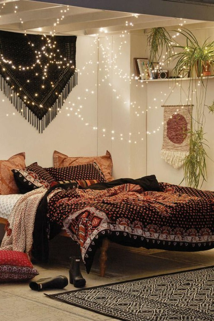 decoration chambre hippie. Black Bedroom Furniture Sets. Home Design Ideas