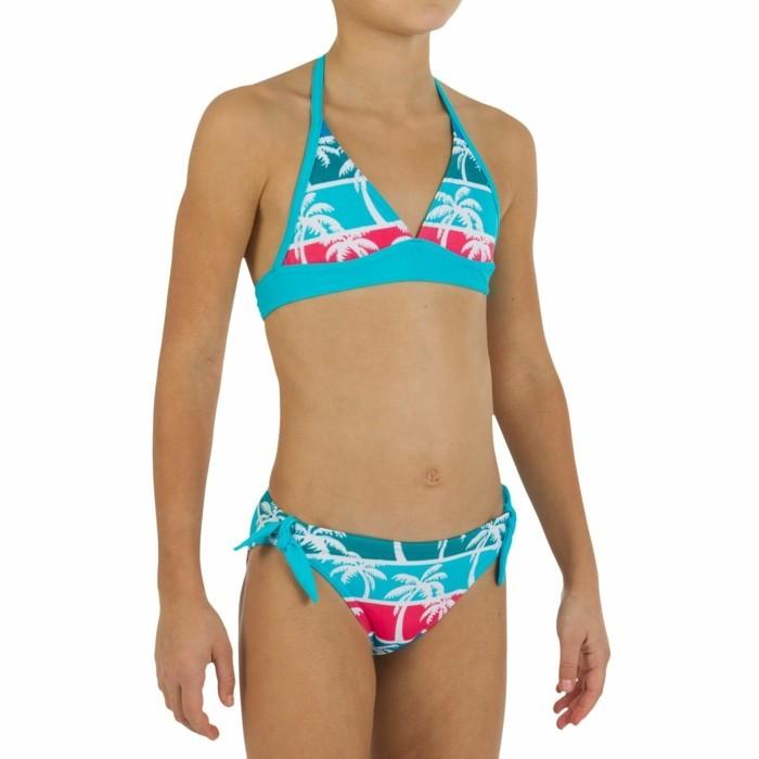 maillot-de-bain-fille-14-ans-haut-triangles-aux-palmes-blanches