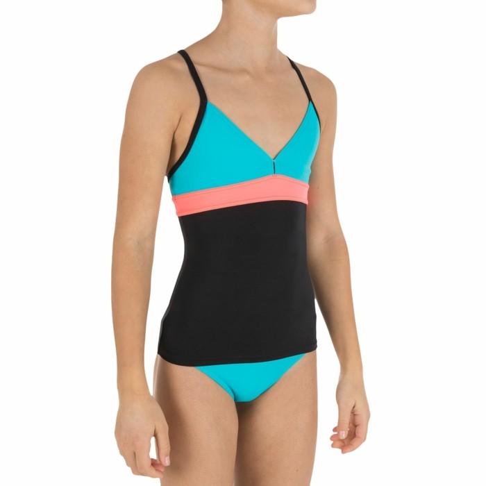 maillot-de-bain-fille-14-ans-en-turquoise-et-corail